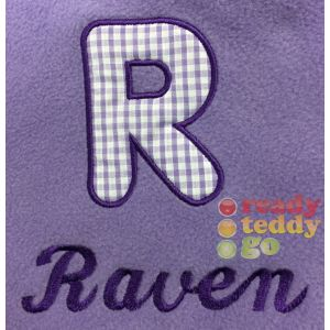 Applique Letter + Any Name Baby Cotton / Fleece Blanket