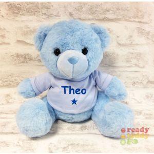 Blue Teddy Bear with T-shIrt