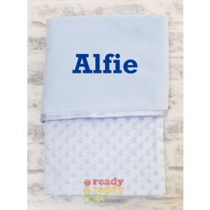 Any Name Blue Bubble Mink Wrap Baby Blanket