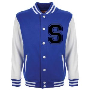 Personalised Junior Stanford Blue Varsity Jacket