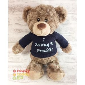 Bobby Teddy Bear with Knitted Jumper