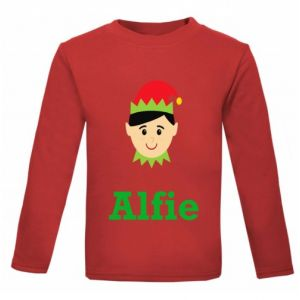 Christmas Boy Elf Any Name Childrens Printed T-Shirt