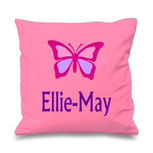 Butterfly Any Name Printed Cushion
