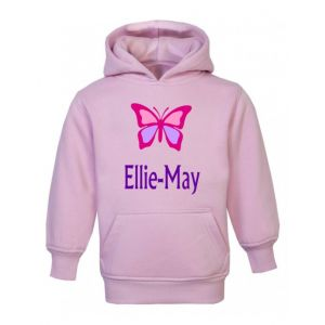 Butterfly Any Name Childrens Hoodie