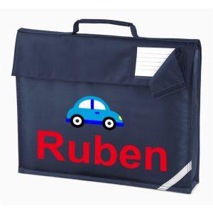 Car Any Name Book Bag