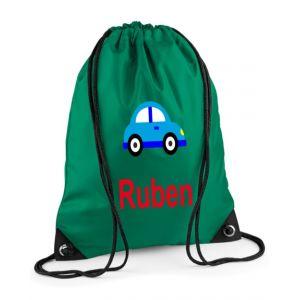 Car Any Name Drawstring Bag
