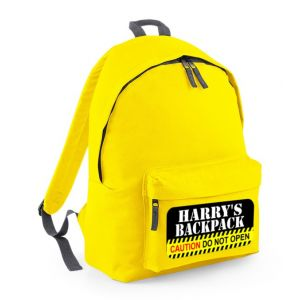Caution Do Not Open Any Name Childs Rucksack