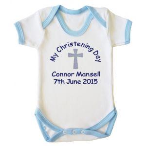 My Christening Day Name + Date Boy Baby Vest