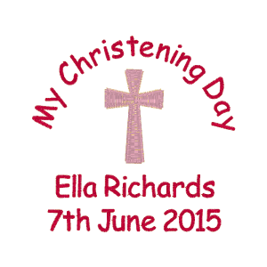 Text (Hot Pink) Cross (Pale Pink)