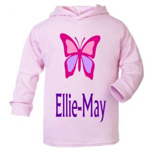 Butterfly Any Name Childrens T-Shirt Hoodie