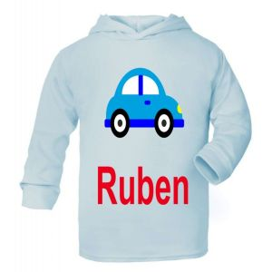 Car Any Name Childrens Cotton Hoodie
