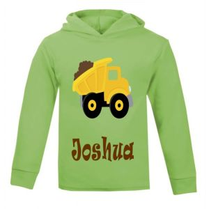Dump Truck Any Name Childrens Cotton Hoodie