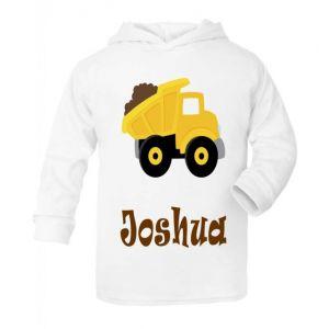 Dump Truck Any Name Childrens T-Shirt Hoodie