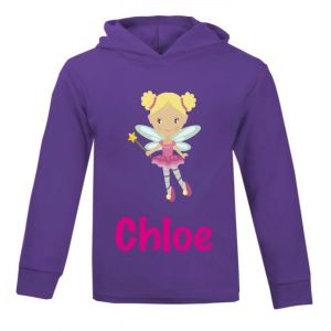 Fairy Any Name Childrens Cotton Hoodie