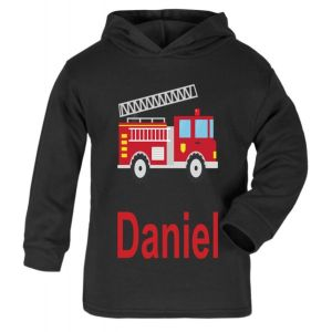 Fire Engine Any Name Childrens Cotton Hoodie