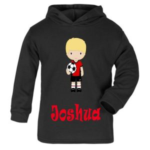 Football Player Any Name Childrens T-Shirt Hoodie