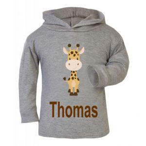 Giraffe Any Name Childrens T-Shirt Hoodie