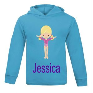 Gymnast Any Name Childrens Cotton Hoodie
