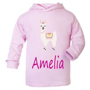 Llama Any Name Childrens T-Shirt Hoodie