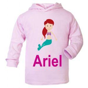 Mermaid Any Name Childrens Cotton Hoodie