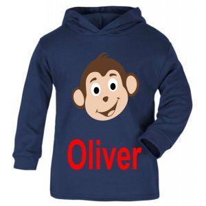 Monkey Any Name Childrens T-Shirt Hoodie