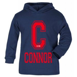 Letter is for Any Name Childrens Cotton Hoodie