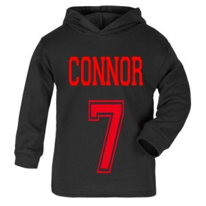 Number + Any Name Childrens Cotton Hoodie