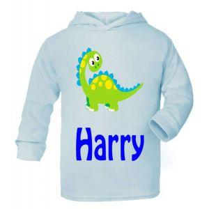 Cute Dinosaur Any Name Childrens T-Shirt Hoodie
