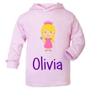 Princess Any Name Childrens Cotton Hoodie