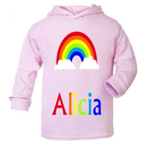 Rainbow Any Name Childrens Cotton Hoodie