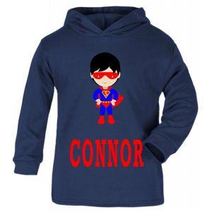 Superhero Boy Any Name Childrens T-Shirt Hoodie