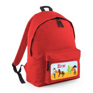 Cowboys Any Name Childs Rucksack