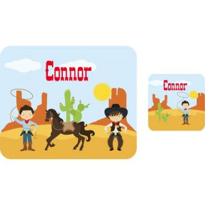 Cowboys Hardboard Placemat & Coaster