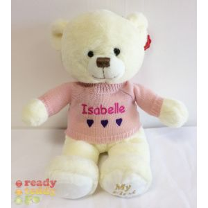 Baby My 1st Teddy Bear Cream with Knitted Jumper