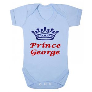 Prince Any Name Crown Baby Vest