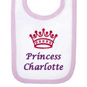 Princess Any Name Crown Baby Bib