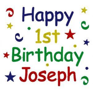 Happy Birthday Confetti Any Age & Name