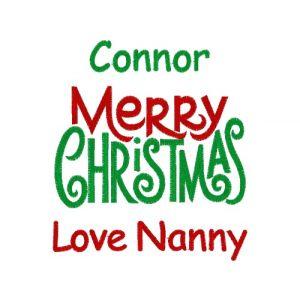 Merry Christmas Any Name / Text