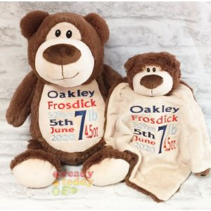 Cubbyford The Brown Bear Cubbie & Blankie Gift Set