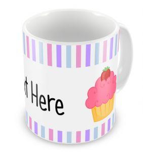 Cupcakes + Text Mug