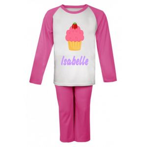 Cupcake Any Name Childrens Pyjamas