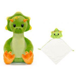 Sir Monty The Green Dinosaur Cubbie & Blankie Gift Set