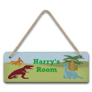 Dinosaurs Hanging Door Sign
