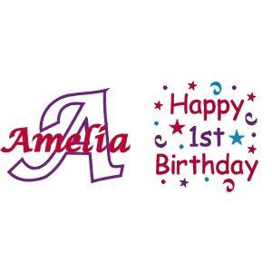 Happy Birthday Confetti Any Age & Name Design
