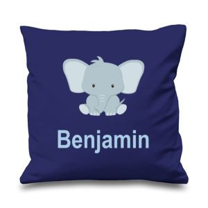 Elephant Any Name Printed Cushion