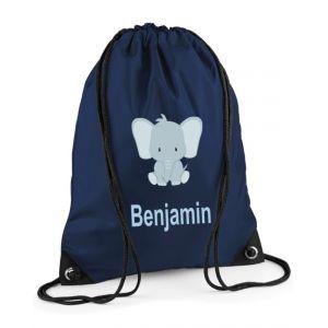 Elephant Any Name Drawstring Bag