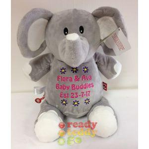 Elle The Elephant (Grey/White)