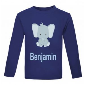 Elephant Any Name Childrens Printed T-Shirt