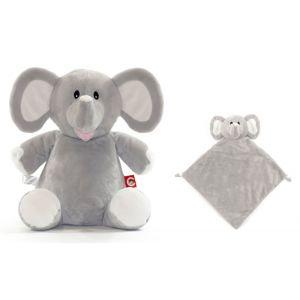 Elle The Elephant Cubbie & Blankie Gift Set