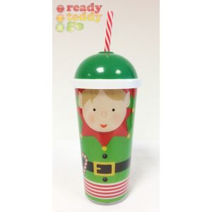 Christmas Large Elf Tumbler with Straw